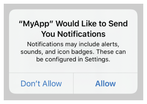 Example: Permission to Allow Notifications