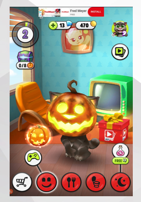 Leaderboard or banner ads in children's apps