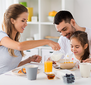 Family having breakfast small