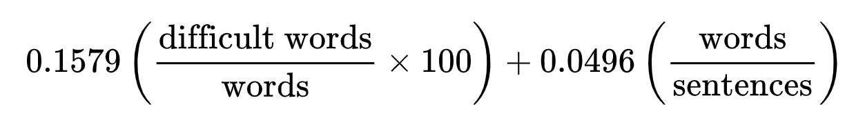 Dale-Chall formula